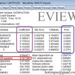 So sánh SPSS và EVIEWS khi phân tích hồi quy, cùng một bộ số liệu